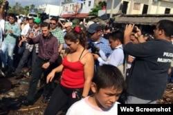 El presidene Enrique Peña Nieto, llega a Colima para evaluar los daños del huracán