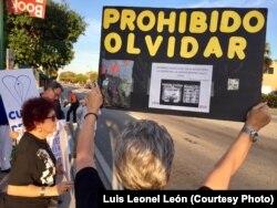 """""""Prohibido olvidar"""" exige el Movimiento Democracia en Miami"""