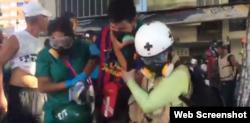 Decenas de manifestantes resultados heridos este sábado en Caracas