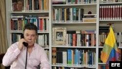 Fotografía cedida por la Presidencia que muestra al presidente de Colombia, Juan Manuel Santos.