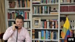 Fotografía de archivo cedida por la Presidencia que muestra al presidente de Colombia, Juan Manuel Santos.