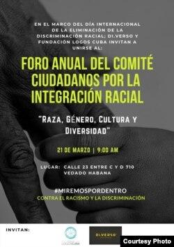 Programa de Foro Anual Raza Género Cultura y Diversidad /Facebook de Juan Antonio Madrazo