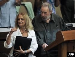 Foto Archivo. Fidel Castro y Dalia Soto del Valle.