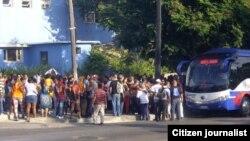Reporta Cuba. Colas para hacer compras. Foto: Luis L. Guanche.