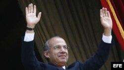Fotografía de archivo del presidente de México, Felipe Calderón.