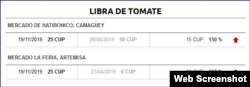 El precio del tomate sigue subiendo. (14ymedio)
