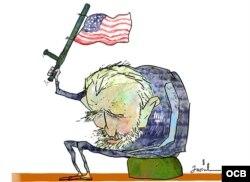 Caricatura de Garrincha.