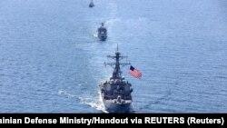 El destructor USS Porter en el mar Negro, el 25 de julio de 2020.