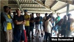 Migrantes cubanos en el albergue de Chiriquí, en Panamá. (José Vásquez/Cubanet)