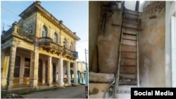 Derrumbe en edificio de Caibarién