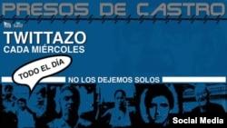 #PresosDeCastro, campaña del proyecto Estado de Sats en Cuba. (Twitter).