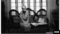 Dulce María Loynaz, poetisa cubana (1902-1997).