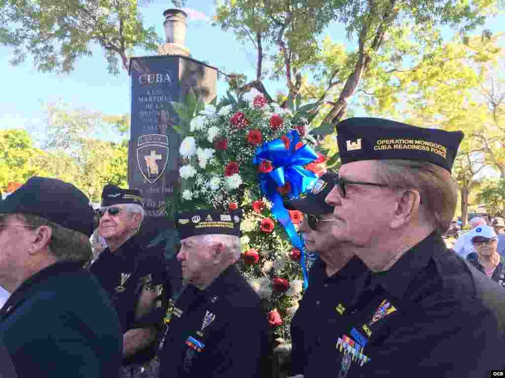 Combatientes de la Brigada 2506 rinden homenaje a sus muertos / Cortesía de Ricardo Quintana