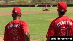 Los peloteros cubanos Alexei Ramírez y Henry Urrutia, jugarán contra Occidentales y Orientales.