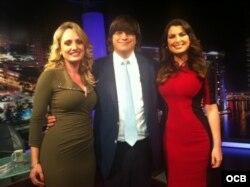 En Mega TV, Jaime Bayly con Vanessa Ruiz y Karen Caballero