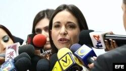 Fotografía de archivo de la diputada venezolana María Corina Machado.