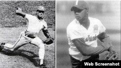 """El sitio oficial Cubadebate publicó estas fotos de los peloteros cubanos de Grandes Ligas René Arocha y Orlando """"El Duque"""" Hernández sin llamarles traidores."""