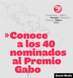 Nominados Gabo 2020