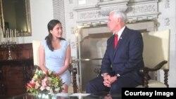 Rosa María Payá se reune en Perú con Mike Pence