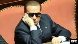 Imagen de archivo del ex primer ministro italiano Silvio Berlusconi, en Roma, Italia.