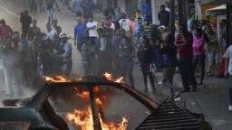 Venezuela asonada militar. AFP
