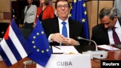 Foto Archivo. El Canciller cubano en una reunión en Bruselas en 2018. REUTERS/Francois Lenoir