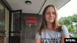 Svetlana Prokopuyeva en el tribunal de Pskov