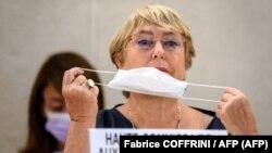 Michelle Bachelet en la sesión del Consejo de Derechos Humanos celebrada el 13 de septiembre en Ginebra.