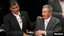 El presidente Rafael Correa es un incondicional aliado y gran admirador del gobierno cubano.