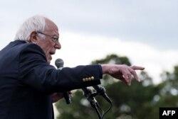 El senador de Vermont Bernie Sanders quedó segundo el sábado en Carolina del Sur por debajo de Biden, pero sigue al frente en la cantidad de delegados, con 60 (Foto: Jim Watson/AFP).