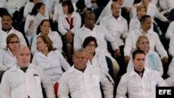 Médicos cubanos en Brasil.