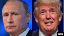 Combinación de fotografías del presidente ruso Vladimir Putin y el presidente electo de EEUU Donald Trump.