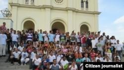 Reporta Cuba. Actvistas en El Cobre, 2013.