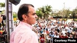 Óscar Iván Zuluaga, candidato en las elecciones presidenciales de Colombia.