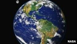 Imagen de la Tierra vista por un satélite desde el espacio.