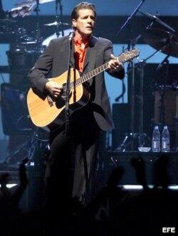 Una presentación de la banda estadounidense 'The Eagles' con el músico Glenn Frey. EFE