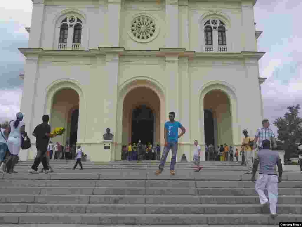 Extreriores de El Cobre, Santiago de Cuba/ Cortesía UNPACU.