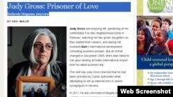 Judy Gross dijo a Bethesda Magazine estar furiosa porque nadie ha hecho algo por rescatar a su marido.
