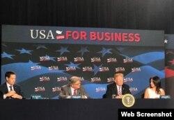 Donald Trump se reúne con empresarios en Miami.