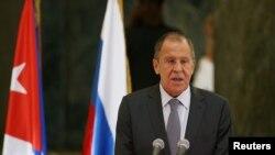 El ministro de Relaciones Exteriores de Rusia, Serguéi Lavrov, en La Habana, el 24 de julio (Foto: REUTERS/Fernando Medina).