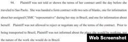 El punto 94, pag. 49, de la demanda de cuatro médicos cubanos contra OPS, en referencia a la Dra. Tatiana Carballo Gómez.