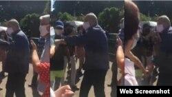 El ministro de Cultura, Alpidio Alonso, la emprendió a puñetazos contra un periodista que cubría la manifestación del 27N.