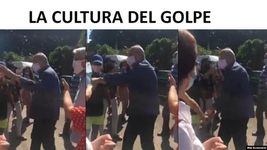 Así denunciaron los artistas la agresión del ministro de Cultura, Alpidio Alonso, a los manifestantes del 27N.