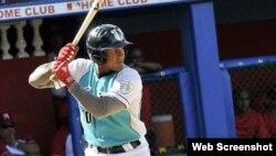 Andy Ibañez jugó la 2B del equipo Isla de la Juventud.