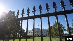 La Casa Blanca, desde el pórtico norte.