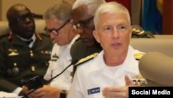 Almirante Craig Faller, jefe del Comando Sur.