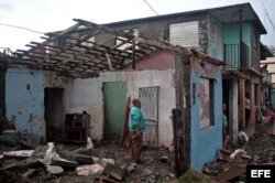 Parte de los destrozos causados por el paso del huracán Matthew en Baracoa. (Archivo)