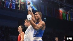 Foto de archivo del boxeador cubano Julio César la Cruz.