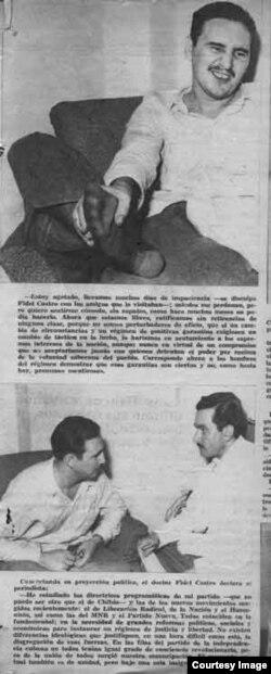 Castro es entrevistado por Agustín Alles Soberón para la revista Bohemia.