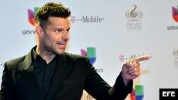 El cantante puertorriqueño Ricky Martin.